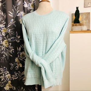ALFRED SUNG mint Pullover Sweater